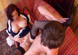 superhot curly maid d like to fuck getting fucked