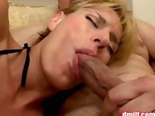 lascivious milf in fishnet hose gets team-fucked