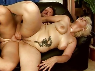 Chubby grandma gets fucked pretty hard