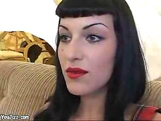 sexy goth babe copulates a punk rockers large fat