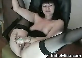 hawt dark haired slut with priceless bumpers
