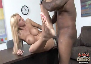 Hot cougar Brooke Tyler fucked by BBC
