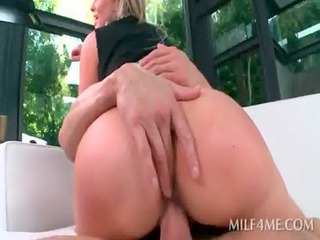 blond concupiscent milf jumping shaft acquires
