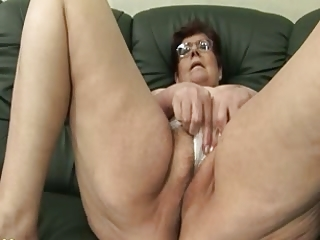 granny panty stuffing and sex toy play