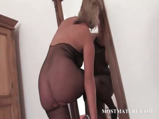 hawt mother i in hose riding marital-device