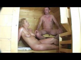sauna sex with lewd mature women (german)