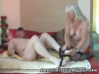 obese amateur wife sucks and copulates on her