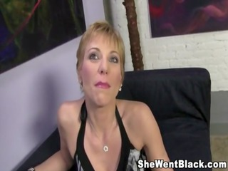 Mature Cougar Gemma More Rough Fucks a Black Cock