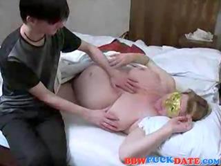 non-professional russian mama and son have sex