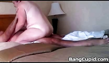 bulky dark brown mature rides husbands cock