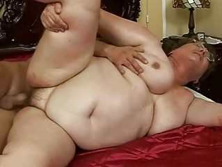 unsightly plump granny gets drilled pretty hard