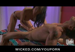 big tit pornstar alektra blue give pounder massage