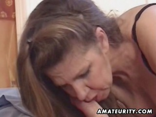 mature dilettante wife toys her ass and gets anal