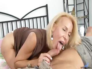 mature cougar receives drilled