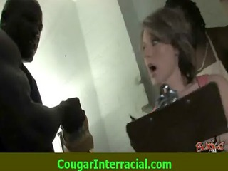 Interracial Sex - Sexy cougar MILF gets fucked by