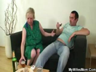 dick hungry mommy jumps on her son on law