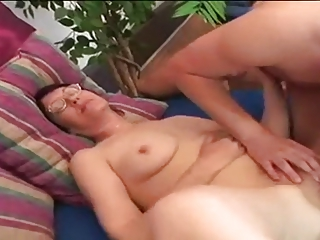 chunky young unshaved granny in good act