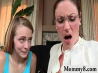 angry milf stepmom gets a facial cumshot in a