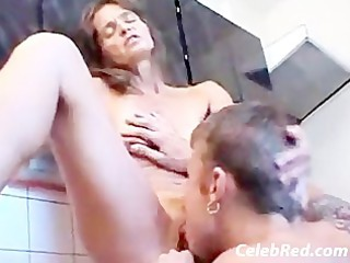 taboo stepmom and son in the kitchen