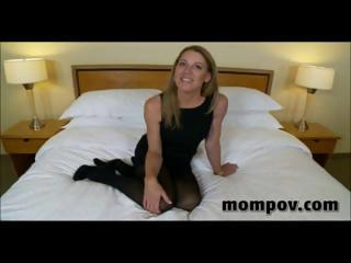 mature blond housewife gives him a blowjob,