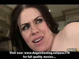 busty dark brown mother i does blowjob and is
