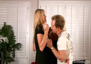 busty blondes sweet a fortunate guy