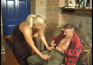 natural large titty golden-haired receives it is