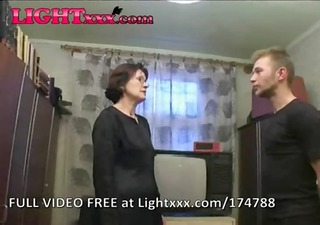 russian mamma and boy