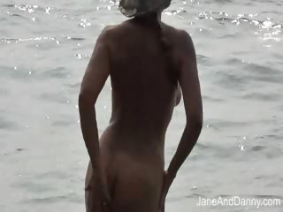 voyeur fucks hawt milf on the beach