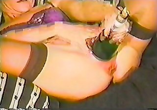 toy extrem - wine bottle in gals vagina the