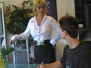 german mama teaches juvenile chap