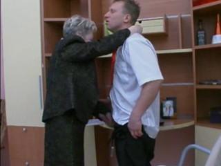 granny bonks the office lad