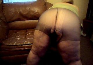teasing in pantyhose