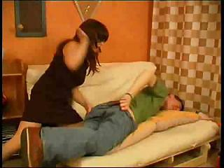 milf punishes her sons ally for not doing homework